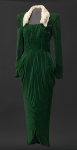 Green velvet dress worn by Lena Horne in the film Stormy Weather