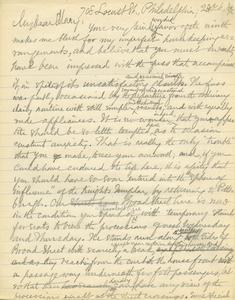 Letter from Benjamin Smith Lyman to Mary Lyman