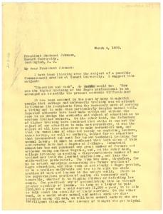 Letter from W. E. B. Du Bois to Howard University