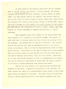 Letter from W. E. B. Du Bois to various organizations