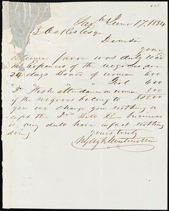 Wylly & Montmollin, Savannah, Ga., manuscript letter signed to Ziba B. Oakes, 17 June 1854