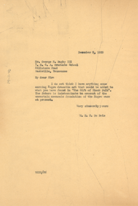 Letter from W. E. B. Du Bois to George F. Bagby III