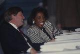 Senator Sundra Escott - Russell talking with Senator Doug Ghee at the State House in Montgomery, Alabama.
