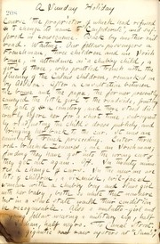 Thomas Butler Gunn Diaries: Volume 21, page 225, February 8, 1863