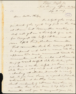 Letter from Elizur Wright, New York, to Amos Augustus Phelps, 1837 Sep[tember] 12
