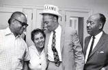 Avon N. Williams, Jr., and Marie Bontemps celebrate after Tennessee state Senate race, 1968 August 01