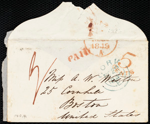 Envelope from Isabel Jennings, Cork, [Ireland], to Anne Warren Weston, [Nov. 29, 1849]