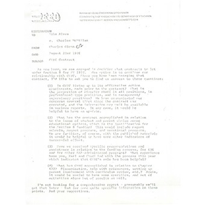 Letter, Bureau of Equal Educational Opportunity to Citywide Educational Coalition, August 23, 1976.