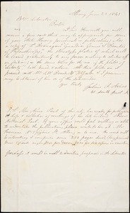 Letter from Julius Rubens Armes, Albany, [New York], to William Lloyd Garrison, 1841 June 23