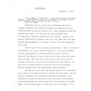 Court notes, September 1, 1976.