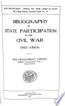 Bibliography of state participation in the Civil War, 1861-1866