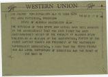 Telegram from Reverend Ralph Abernathy in Montgomery, Alabama, to Governor John Patterson.