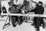 Police riot control demonstration