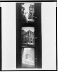 "[Three snapshots of a banner that reads ""A MAN WAS LYNCHED YESTERDAY"" flying outside of the NAACP New York City headquarters]"