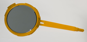 Bakelite hand mirror from dresser set owned by Lena Horne