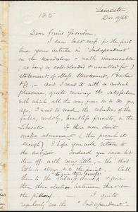 Letter from Samuel May, Jr., Leicester, [Mass.], to William Lloyd Garrison, Dec[ember] 19 / [18]68