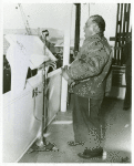 Marcus Hall, an African American shipyard worker, singing at the ship launching of the SS S. Hall Young at Richmond Shipyard No. 2