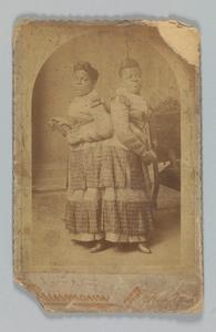 Albumen print of Millie and Christine McCoy