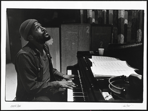 "Marvin Gaye at the recording session for ""Let's Get It On"""