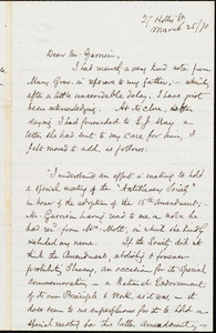 Letter from Samuel May, Jr., [Leicester, Mass.], to William Lloyd Garrison, March 25 / [18]70