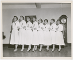 Group portrait of women's group at Abyssinian Baptist Church, Harlem, New York City, circa 1940s