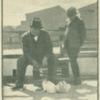 Booker T. Washington with rabbits