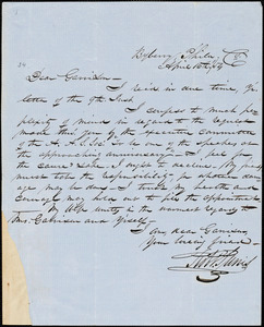 Letter from Robert Purvis, Byberry, Phila[delphia, Pennsylvania], to William Lloyd Garrison, [18]54 April 16th