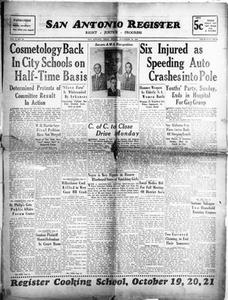 San Antonio Register (San Antonio, Tex.), Vol. 8, No. 26, Ed. 1 Friday, September 30, 1938 San Antonio Register