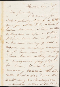 Letter from William Henry Fish, Hopedale, [Massachusetts], to Samuel May, 1851 Aug[ust 22]