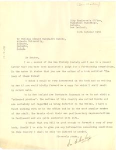 Letter from Ian K. Mackay to W. E. B. Du Bois