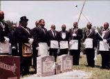 Prince Hall Masonic ceremony at Harrold family grave.