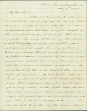 Letter signed Captain John W. Deforest, Carrollton, Louisiana, to Lillie [Lillie Umsted], August 7, 1862