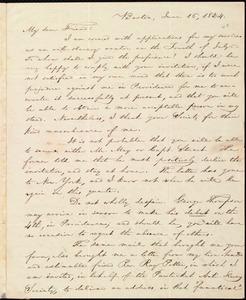 Letter from William Lloyd Garrison, Boston, [Mass.], to George William Benson, June 16, 1834