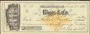 Check to Albert Hawkins, 1881 June 30