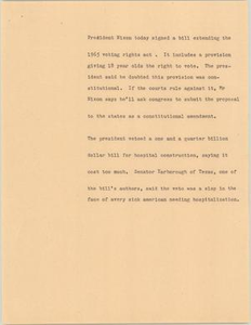 News Script: Voting rights act