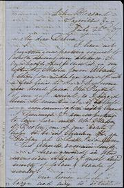 Incomplete letter to] My dear Debora[h] [manuscript