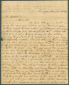 Letter from Jane Gorin in Livingston, Alabama, to James Dellet, in Washington, D.C.