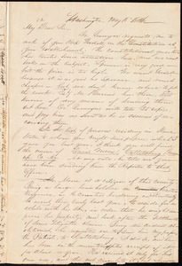 Letter from Russell Errett, Washington, to Amos Augustus Phelps, May 18 1846
