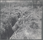 Members of the 369th Infantry serving in the trenches in France during World War I