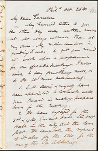 Letter from James Miller M'Kim, Phil[adelphi]a, [Pa.], to William Lloyd Garrison, Oct[ober] 26th [1863]
