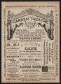 Garden Theatre, Various acts (May 16, 1881) Various acts