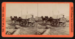 Army wagon going to commissary depot, City Point, for supplies