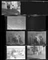 Set of negatives by Clinton Wright including Par reporter, playhouse opening, Conventional Beauty Salon, and street scenes, 1964