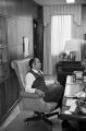 Mayor Richard Arrington seated in his office at city hall in Birmingham, Alabama.
