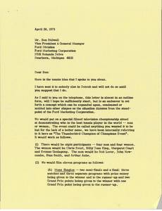 Letter from Mark H. McCormack to Ben Bidwell