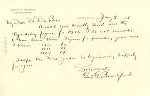 Letter from George G. Bradford to W. E. B. Du Bois