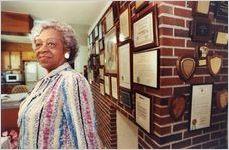 Mrs. Narvie J. Harris at home in Atlanta, Georgia, May 1, 1990.