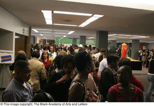 Crowd Gathered in Theater Foyer Hip Hop Broadway: The Musical