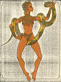 Costume design drawing, showgirl with snake, Las Vegas, June 5, 1980