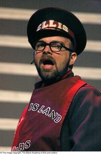 Actor dressed as Ellis Island tour guide Ellis Island